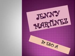 Jenny  Martínez