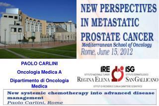 PAOLO CARLINI Oncologia Medica A Dipartimento di Oncologia Medica