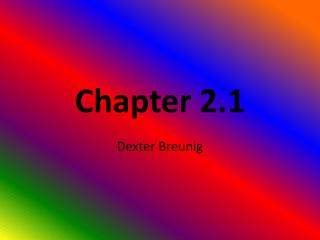 Chapter 2.1