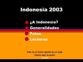 Indonesia 2003
