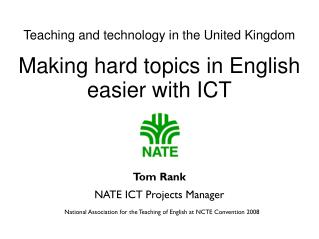 Making hard topics in English easier with ICT