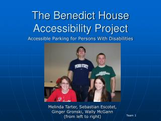 The Benedict House Accessibility Project