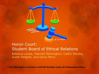 Honor Court:  Student Board of Ethical Relations