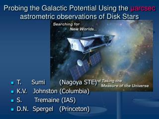 Probing the Galactic Potential Using the  μ arcsec  astrometric  observations  of  Disk Stars