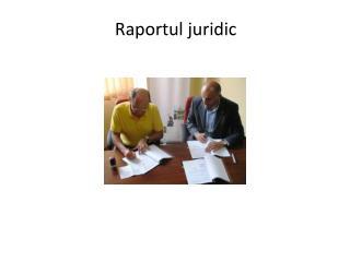 Raportul juridic