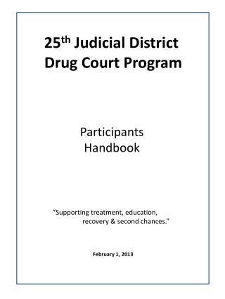 25 th  Judicial District  Drug Court Program