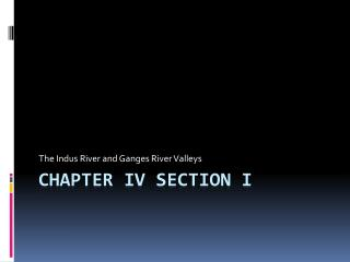 Chapter IV Section I
