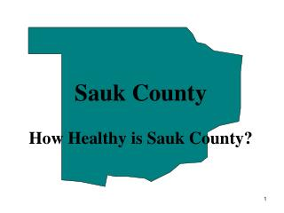 Sauk County How Healthy is Sauk County?