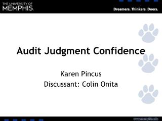 Audit Judgment Confidence