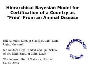 EPIDEMIOLOGY UC Davis