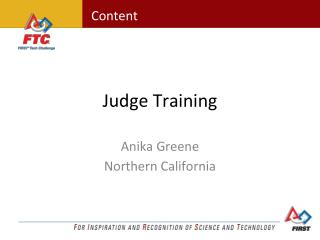 Judge Training