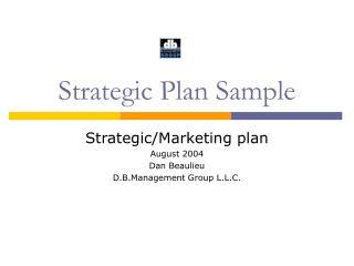 Strategic Plan Sample