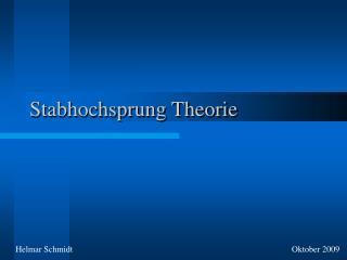 Stabhochsprung Theorie