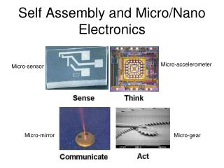 Self Assembly and Micro