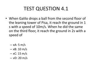 TEST QUESTION 4.1