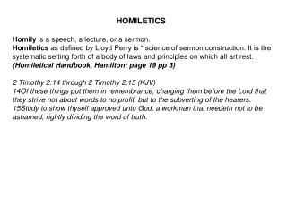 Homily  is a speech, a lecture, or a sermon.