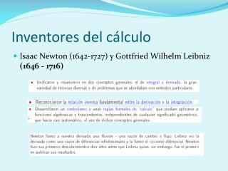 Inventores del c�lculo
