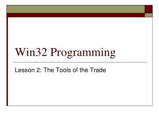 Win32 Programming