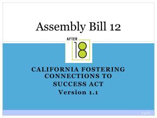 Assembly Bill 12