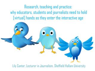 Lily Canter, Lecturer in Journalism, Sheffield Hallam University