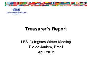 Treasurer´s Report