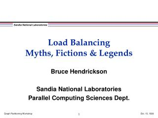 Load Balancing Myths, Fictions & Legends