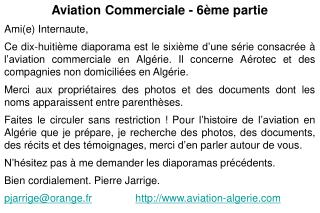 Aviation Commerciale - 6ème partie Ami(e) Internaute,