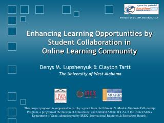 Enhancing Learning Opportunities by Student Collaboration in  Online Learning Community