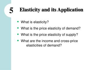 Elasticity and its Application