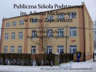 Publiczna Szkoła Podstawowa im. Adama Mickiewicza w Borze  Zajacińskim