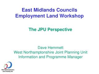 East Midlands Councils Employment Land Workshop