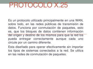 PROTOCOLO X.25