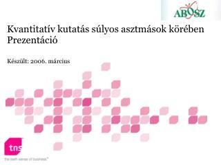 Kvantitatív kutatás súlyos asztmások körében Prezentáció