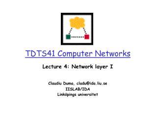 TDTS41 Computer Networks