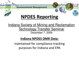 NPDES Reporting