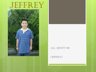 All about  Jeffrey