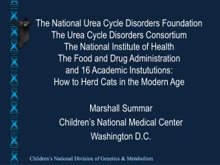 Marshall Summar Children's National Medical Center Washington D.C.