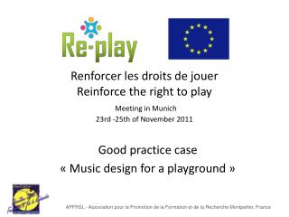 Good practice case « Music design for a playground »