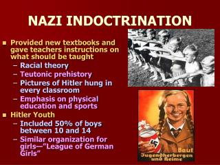 NAZI INDOCTRINATION