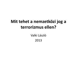 Mit tehet a nemzetközi jog a terrorizmus ellen?