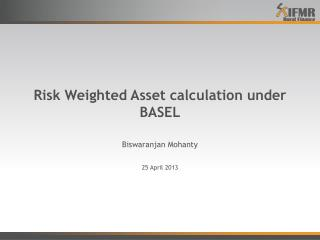 Risk Weighted Asset calculation under BASEL