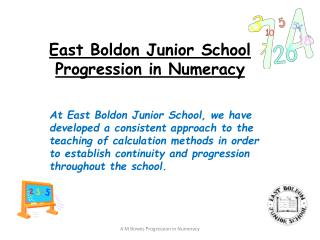 East  Boldon  Junior School Progression in Numeracy