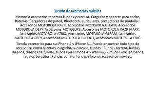 cuales son los accesorios moviles