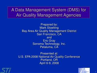 A Data Management System DMS for Air Quality Management Agencies