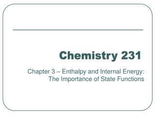 Chemistry 231