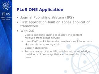 PLoS ONE Application