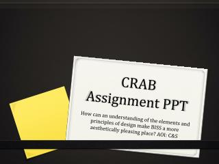 CRAB Assignment PPT