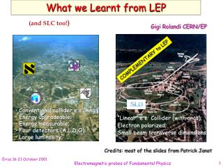 What we Learnt from LEP