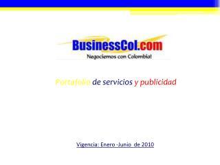 Portafolio  de servicios  y publicidad