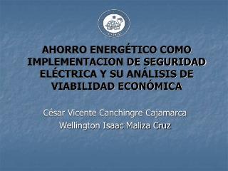AHORRO ENERGÉTICO COMO IMPLEMENTACION DE SEGURIDAD ELÉCTRICA Y SU ANÁLISIS DE VIABILIDAD ECONÓMICA